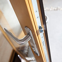 Solid laminated oak Glazed Patio Patio door, (H)2104mm (W)3004mm