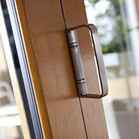 Solid laminated oak Glazed Patio Patio door, (H)2104mm (W)3604mm