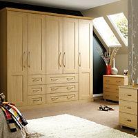 Oak effect Double wardrobe carcass (H)2112mm (W)900mm
