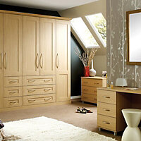 Oak effect Double wardrobe carcass (H)2112mm (W)900mm