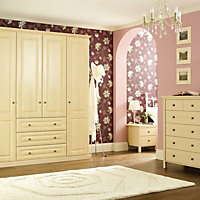 Maple effect Double wardrobe carcass (H)2112mm (W)900mm