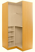 Maple effect Corner wardrobe cabinet (H)2112mm (W)1060mm