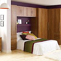 Cooke & Lewis Walnut effect Wardrobe cabinet (H)2112mm (W)900mm (D)590mm