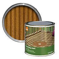 Colours Medium oak Matt Decking Wood stain, 2.5