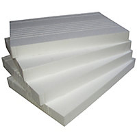 Polystyrene Insulation board (L)0.61m (W)0.4m (T)60mm, Pack of 4