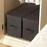 Cooke & Lewis Grey Storage box, Pack of 2