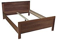 B&Q Waverley Walnut effect Double Bed frame (W)143cm