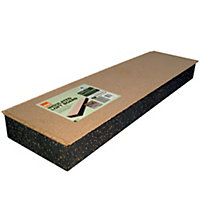 Polystyrene & chipboard Insulation board (L)1.22m (W)0.32m (T)123mm