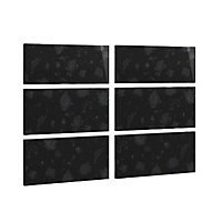 Cooke & Lewis Black floral Black Gloss 3 plus 3 drawer chest front pack