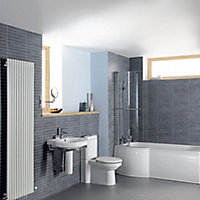 Cooke & Lewis Adelphi Curved 1 Panel Bath screen