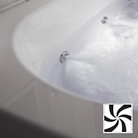 Cooke & Lewis Luxury Whirlpool LED Wellness Spa system with Chrome controls