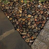 Blooma Multicolour 30mm Stone Pebbles, 22.5kg Bag
