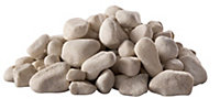 Blooma White Stone Cobbles, Large 22.5kg Bag