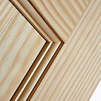 Vertical 2 panel Clear pine LH & RH Internal Door, (H)1981mm (W)762mm