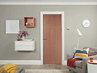 Flush Ply veneer LH & RH Internal Door, (H)1981mm (W)686mm