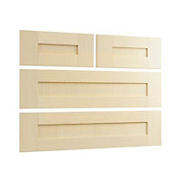 Cooke & Lewis Shaker 4 drawer Maple effect Drawer front pack 896mm
