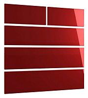 Cooke & Lewis Designer burgundy gloss Multicolour Burgundy Gloss 2 over 3 drawer chest front pack (W)896mm