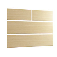 Cooke & Lewis Ferrara oak style Contemporary Ferrara oak effect 2 over 2 drawer chest front pack (W)896mm