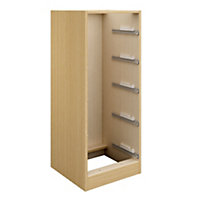 Cooke & Lewis Oak effect Tallboy cabinet carcass (H)1141mm (W)460mm (D)578mm