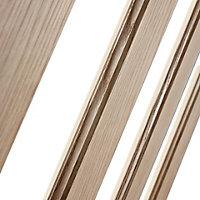 Vertical 3 panel Glazed Oak veneer LH & RH Internal Door, (H)1981mm (W)838mm