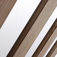 Vertical 3 panel Frosted Glazed Oak veneer LH & RH Internal Door, (H)1981mm (W)838mm