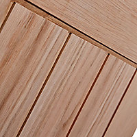 Glazed Cottage Oak veneer LH & RH Internal Door, (H)1981mm (W)762mm