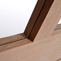 Glazed Cottage Oak veneer LH & RH Internal Door, (H)1981mm (W)762mm