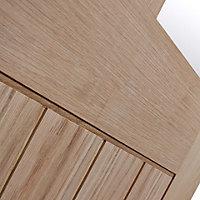 Glazed Cottage Oak veneer LH & RH Internal Door, (H)1981mm (W)686mm