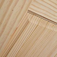 2 panel Glazed Clear pine LH & RH Internal Door, (H)1981mm (W)838mm
