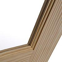 2 panel Glazed Clear pine LH & RH Internal Door, (H)1981mm (W)686mm