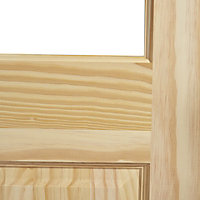 2 panel 6 Lite Glazed Clear pine LH & RH Internal Door, (H)1981mm (W)762mm