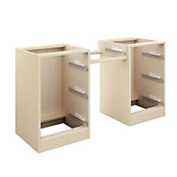 Cooke & Lewis Maple effect Double dressing table unit carcass (H)747mm (W)1360mm (D)578mm