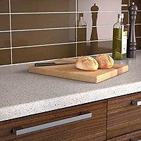 34mm Coffee Brown Stone effect Earthstone Round edge Kitchen Worktop, (L)1800mm