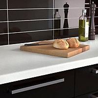 34mm Slate Matt Pale grey Acrylic Kitchen Round edge Worktop (L)1800mm