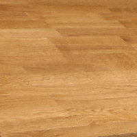 40mm Solid oak Square edge Kitchen Island Worktop, (L)1800mm