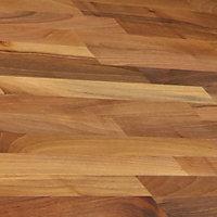 40mm Solid walnut Square edge Kitchen Worktop, (L)3000mm