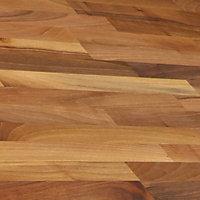 B&Q Walnut effect Solid wood Upstand (L)3000mm
