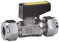 Plumbsure Compression Gas lever valve (Dia)8mm