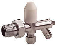 Plumbsure Chrome effect Radiator valve with drain off
