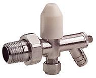 Plumbsure Chrome effect Radiator valve with drain off