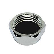 Plumbsure Threaded Blanking cap (Dia)12.7mm