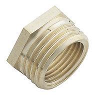 Plumbsure Threaded Reducing Pipe fitting bush (Dia)12.7mm