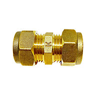 Plumbsure Compression Straight Coupler (Dia)15mm