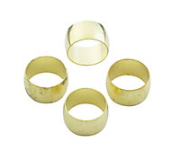 Plumbsure Brass Compression Olive (Dia)12mm, Pack of 4
