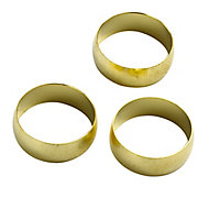 Plumbsure Brass Compression Olive (Dia)19mm, Pack of 3