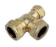 Plumbsure Brass Compression Reducing Tee (Dia)22mm
