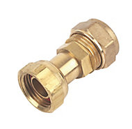 Plumbsure Compression Straight tap connector (Dia)15mm