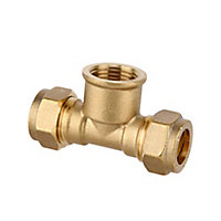 Plumbsure Brass Compression Tee