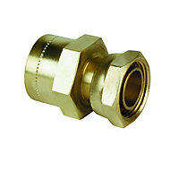 Plumbsure Push fit Straight tap connector (Dia)15mm