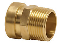 Plumbsure Push fit Straight connector male (Dia)15mm